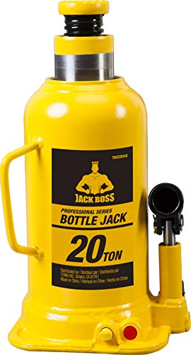 Torin TH92004X JackBoss Hydraulic Welded Bottle Jack: 20 Ton (40,000 lb) Capacity, Yellow