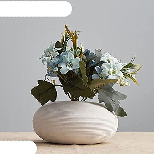 Jarrón de decoración para el hogar, jarrón de cerámica de Estilo nórdico escandinavo, jarrones Decorativos, decoración Moderna para Sala de Estar, decoración Moderna para el hogar, combinación 7
