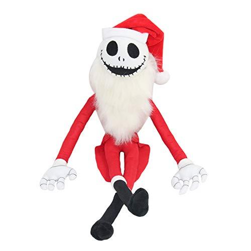 Pesadilla Antes de Navidad Juguetes Pumpkin King Jack Skellington & Zero Plush Dolls (Santa Jack Skellington 20 Pulgadas)