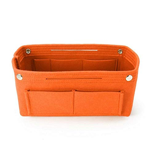 Cosmetic Bag Insert Purse Organizer Sac à Main Pliable Cosmetic Travel Bag Femme 24 * 10 * 15.5cm-Orange_China_24 * 10 * 15.5cm