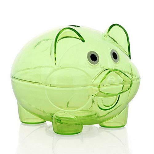 Cerdo Dibujos Animados Transparente Hucha - Verde