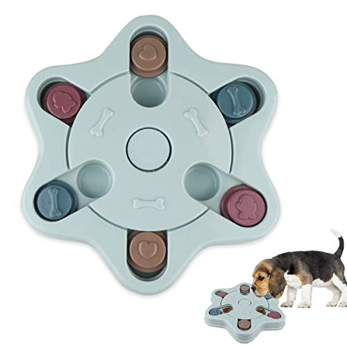 KOLLNIUN Hund Puzzle Feeder, Spielzeug Hündchen Behandeln Spender Schüssel Interaktiv Schleppend Abgabe Füttern Haustier IQ-Spiel verbessern Gehirn Ausbildung Feeder