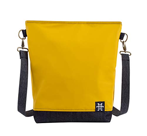Manufaktur13 Neverfull Bag - Mustard, Senfgelb, wasserdicht, Schultertasche, Umhängetasche, Handtasche, Beuteltasche, Freizeittasche