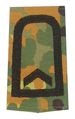 1 Paar Bundeswehr Rangabzeichen Flecktarn/Schwarz Rangschlaufe Rangschlaufen Abzeichen Schlaufe verschiedene Dienstgrade (Feldwebel)