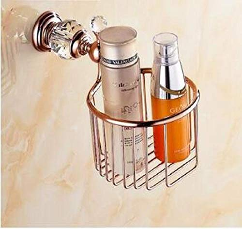 HTBYTXZ Brass&Jade Badkamer Accessoires Set Paper Holder Towel Bar Zeep mand handdoekenrek Roze Goud badkamer Hardware set papier houder