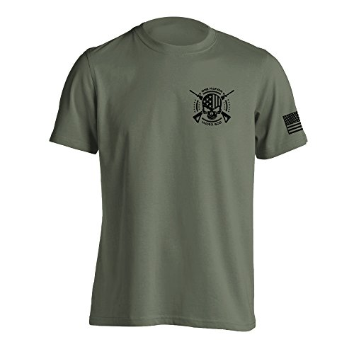 One Nation Under God Military T-Shirt Medium Military Green