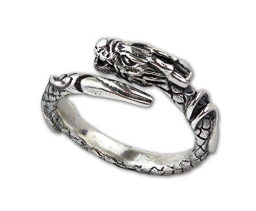 Ring Drache Dragon Drachenring aus 925 Sterling Silber (56 (17.8))