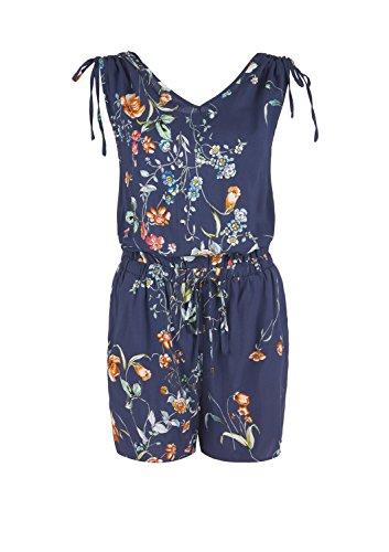 s.Oliver Damen Jumpsuit mit Blumen-Muster, Blau - 5