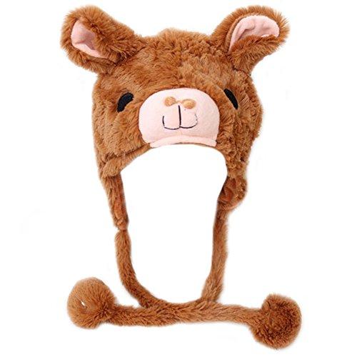 TopTie Halloween Animal Cosplay Hat With Ear Flap, Furry Animal Hood Cap-Alpaca