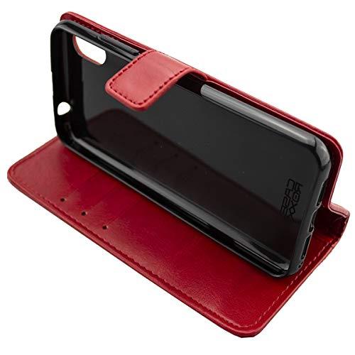 caseroxx Handy Hülle Tasche kompatibel mit Gigaset GS110 Bookstyle-Hülle Wallet Hülle in rot
