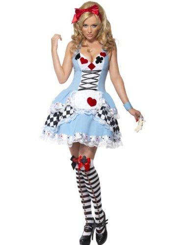 SMIFFYS Costume Fever da Alice nel Paese delle Meraviglie, con abito e fiocco per capell