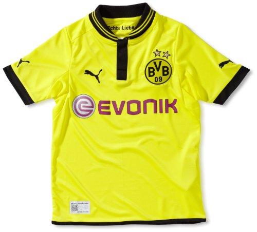 PUMA Kinder Trikot BVB Home Replica, Blazing Yellow-Black, 128, 741449 01