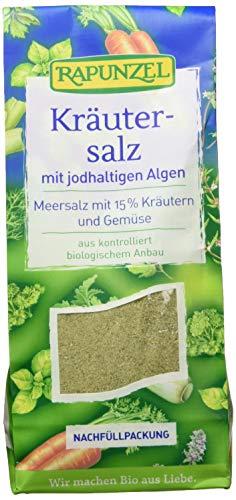 Rapunzel Kräutersalz jodiert mit 15% Kräutern und Gemüse, 1er Pack (1 x 500 g) - Bio