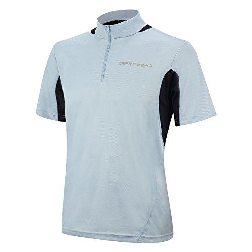 Airtracks T-shirt de course à manches courtes Pro – T-shirt fonctionnel – T-shirt de course – Fitness – Jogging – Respirant – Séchage rapide S gris
