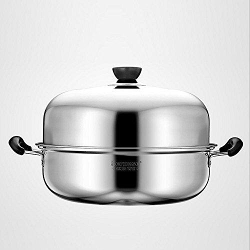 LXZ Acier Inoxydable Cuit Vapeur Cuits À La Vapeur Hot Pot De Soupe Épaisse Chinois Kicthen Cuisinière Universel Chaudières Brew Cookware 28Cm