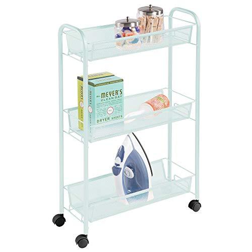 mDesign Estantería con Ruedas para lavadero – Compacto Mu