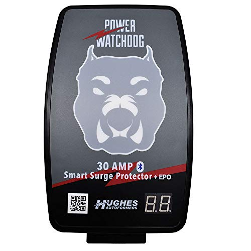 HUGHES AUTO Autoformers PWD30-EPO-H Power Watchdog Smart Bluetooth Surge Protector Plus EPO with Auto Shutoff - 30 Amp Hardwire Version