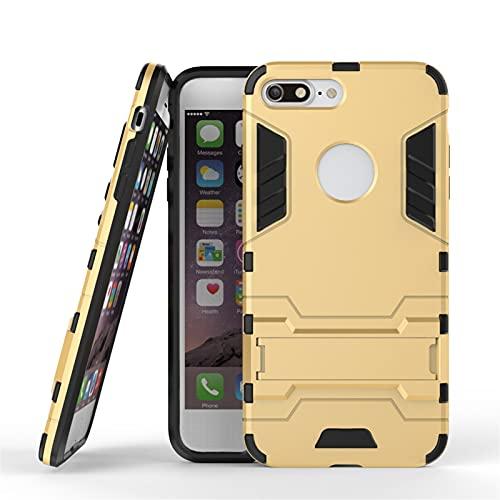 HHF - Accesorios para teléfono móvil para iPhone 7 Plus, goma + cubierta de plástico ligero + funda de TPU suave para iPhone 7 Plus 5.5 (color oro)