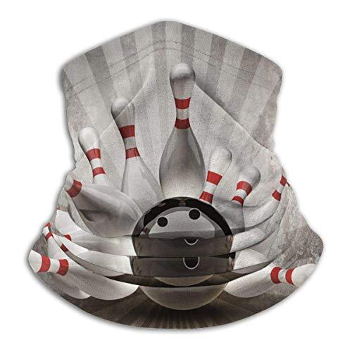 Ewtretr Bowlingkugel Sport Vintage Halsmanschette Wärmer Männer Frauen Warme Winddichte Halsmanschette Tube