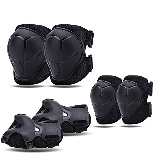 Knee Pads for Kids Elbow Pads For 3-8 Y/O Kids Toddler, Protective Gear Set with Wrist Guards, Adjustable Strap for Inline Skating Scooter Bike Riding Skateboard Cycling