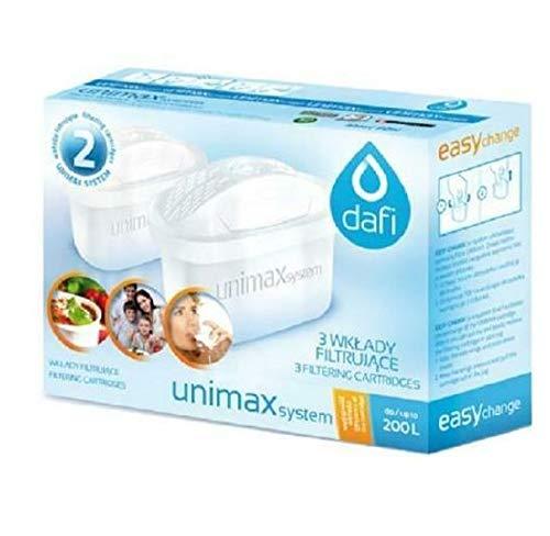 QLS 2 cartuchos de filtro de agua Dafi Unimax para cartucho Brita Maxtra