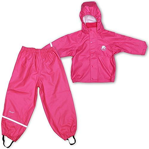 CeLaVi Mädchen CeLaVi zweiteiliger Regenanzug in vielen Farben Regenjacke,,per pack Rosa (Real pink 546),(Herstellergröße:110)