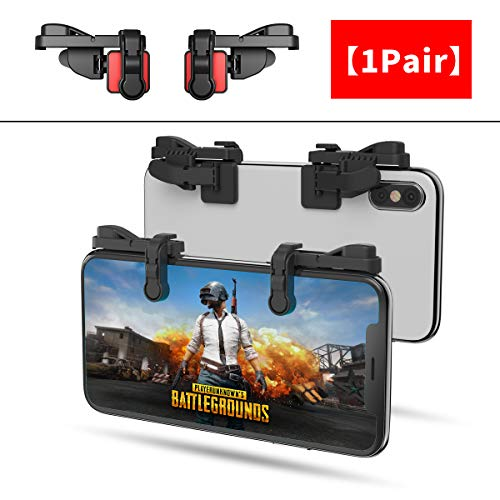 【1 Pair】 IFYOO Z108 Mobile Gaming Controller Compatible with PUBG Mobile/Fortnitee Mobile/Call of Duty Mobile, Sensitive Shoot and Aim Trigger L1R1 Compatible with Android & iPhone