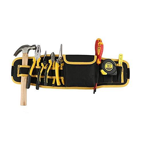 Einstellbarer Werkzeuggürtel Multifunktionale wasserdicht Oxford-Tuch-Werkzeugaufbewahrung Tasche mit 8 Taschen 1 Aufbewahrungstasche Werkzeug Schürze Werkzeugtasche Professionelle Elektriker Wartung