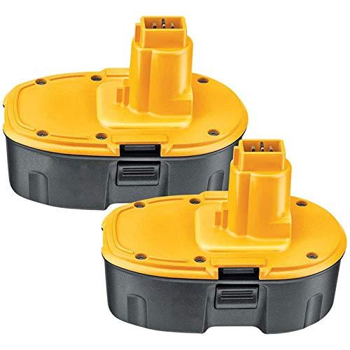 2X Batería Reemplazo para Dewalt 18V 3,0Ah NiMH Repuesto Pilas DE9098 DE9095 DE9094 DE9096 DC9096 DE9039 DW9096 DW9095 DW9098 DE9503