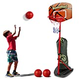 SUPER JOY Basketball Hoop for Toddlers Adjustable Height 2.85-6.23 ft, Portable Basketball Hoop for Kids Stand Outdoor and Indoor Sports Games for Boys and Girls Age 3 4 5 6 7 8