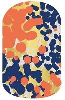Jamberry Nail Wraps - Glam - HALF Sheet - Coral, Navy & Metallic Gold