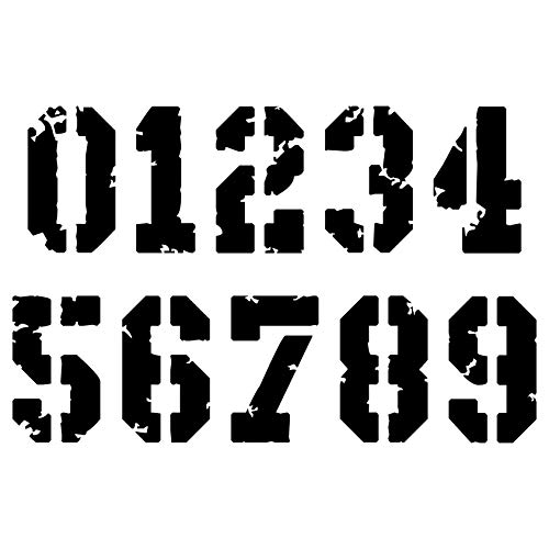 Numeri adesivi moto Cafe Racer compatibile con moto BMW Honda Harley Davidson Kawasaki