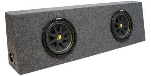 ASC Package Dual 12' Kicker Sub Box Regular Cab Truck Subwoofer Enclosure C12 Comp 600 Watts...