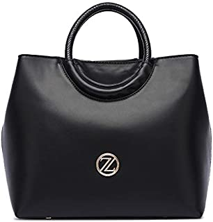 Zeneve London Amelia Satchel Bag For Women - Black