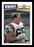 Gary Zimmerman Rookie Card 1987 Topps #207. rookie card picture