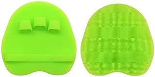 INNERNEED Food Grade Silicone Body Brush Soft Bristles Shower Exfoliating Scrubber Gentle Scrub Bathing Glove Skin Care (Green)