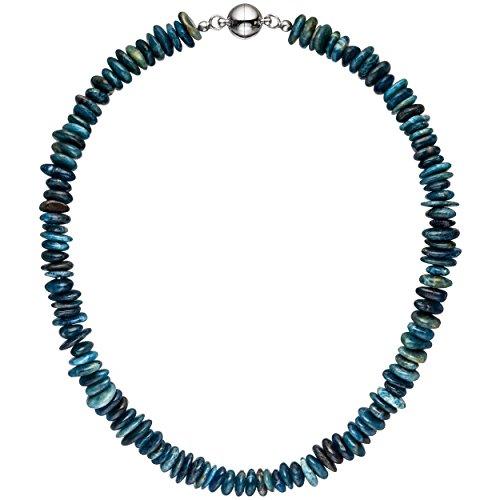 JOBO Halskette Kette Apatit 45 cm Apatitkette Steinkette Edelsteinkette