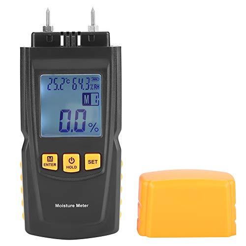 Humidimètre de Bois, GM610 LCD Testeur d'Humidité avec 2 Broches pour le Bois, le Bambou et le Bois de Chauffage, 4 Modes de Mesure, 2%-40%/50%/60%/70% HR