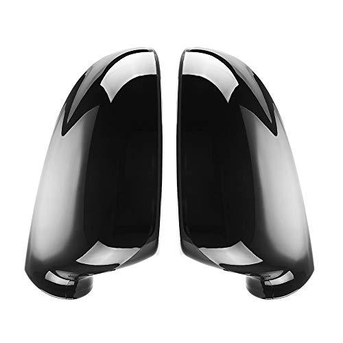 Ersatz 2 Stück Rückabdeckungen for VW for Golf 5 GTI for Jetta 5 for Passat B6 B5.5 Seitenflügel Spiegelabdeckungen Kappen for VW Sharan for for Golf 5 (Color : Bright Black)