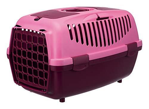 Trixie 39829 Transportbox Capri 2, XS–S: 37 × 34 × 55 cm, beere/pink