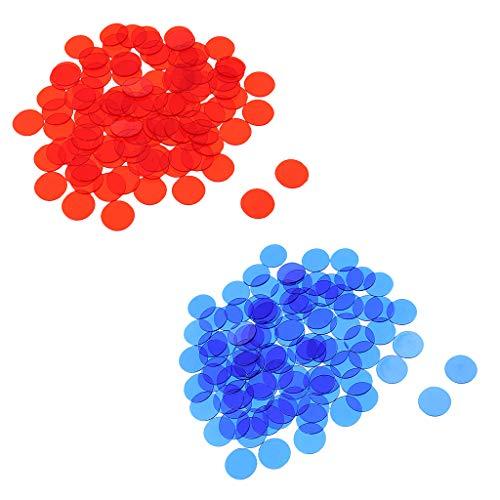 SM SunniMix 1000 Stück Plastik Poker Chips Bingo Brettspiele Marker Token Kinder Zählen Spielzeug Family Club Partyzubehör