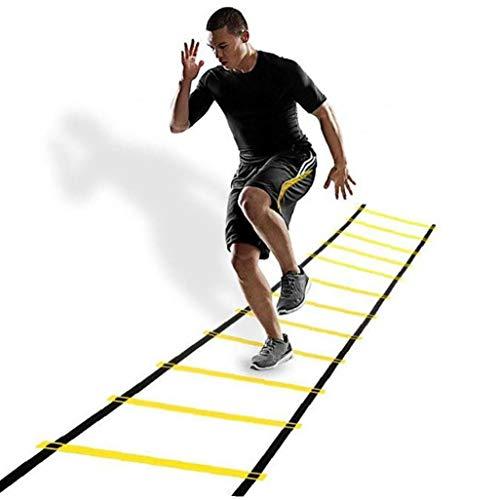 LAANCOO 12 Rung Agility Ladder Adjustable Agility Football F