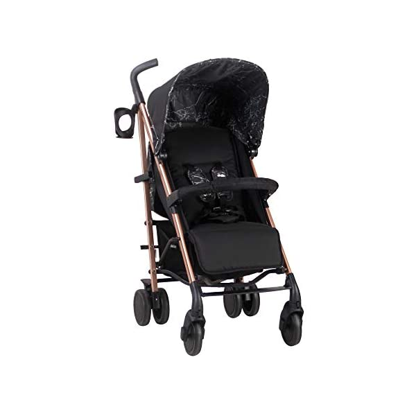 My Babiie Dreamiie by Samantha Faiers MB51 Black Marble Stroller My Babiie Suitable from birth to maximum 15kg Extendable 3 position canopy Lockable swivel front wheels 1