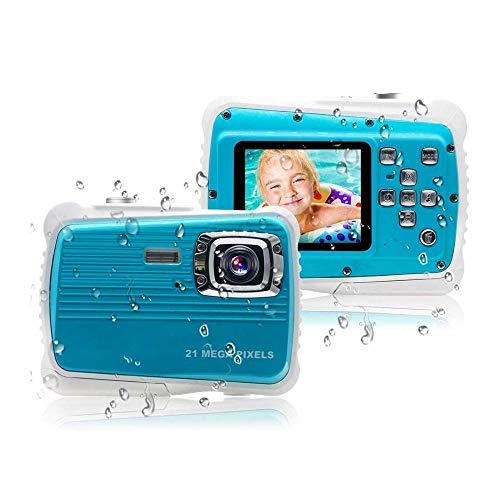 DALIBAI Children's Camera, Waterproof Children's Camera, Best Gift for Girls/Boys 21MP HD Underwater Digital Camera, with 2.0 Inch LCD, 8X Digital Zoom