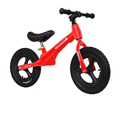 Bicicleta de Aprendizaje Deslizante de 12 Pulgadas con Dos Ruedas para niños de 1-3-6 años (Rojo, Azul, Rosa, Negro, Gris)