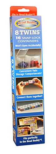 Bead Buddy Twins Storage for Beading Enthusiasts-Snap Lock Containers-Beading Supplies