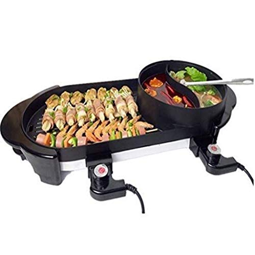 Review Of XXDTG Black Hotpot - Barbecue Hotpot, Multifunctional Intelligent Dual Control Five-speed ...