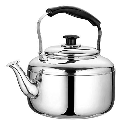 Hoge kwaliteit Waterkoker thee fluitje theepot, roestvrij staal theepot, metalen thee met fluitend geluid, snel koken for home cooking camping koffie thee (Size : 4L)