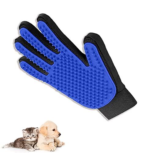 JINCHENG.Guanto Spazzola per Cani Gatto,Cats Guanto.Cane/Gatto da Taglio per Animali da Compagnia Gloves da guarigione Guanto da Spazzola per Capelli per i Manicotti puliti e massaggiati (1)