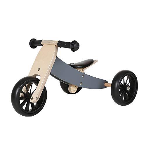 Bandits & Angels Lauflernrad / Laufrad aus Holz 4-in-1 Smartbike ab 1 Jahre (Grau)
